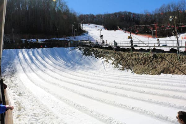 Winter Snow Tubing in Smoky Mountains