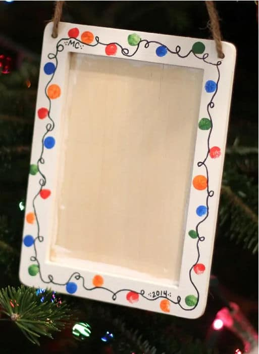 Christmas lights fingerprint frame