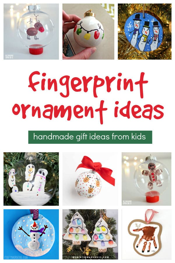 Fingerprint Ornament Ideas for Kids to make this Christmas to share with loved ones.