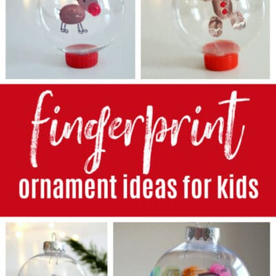 21 Adorable Fingerprint Ornament Ideas for Kids