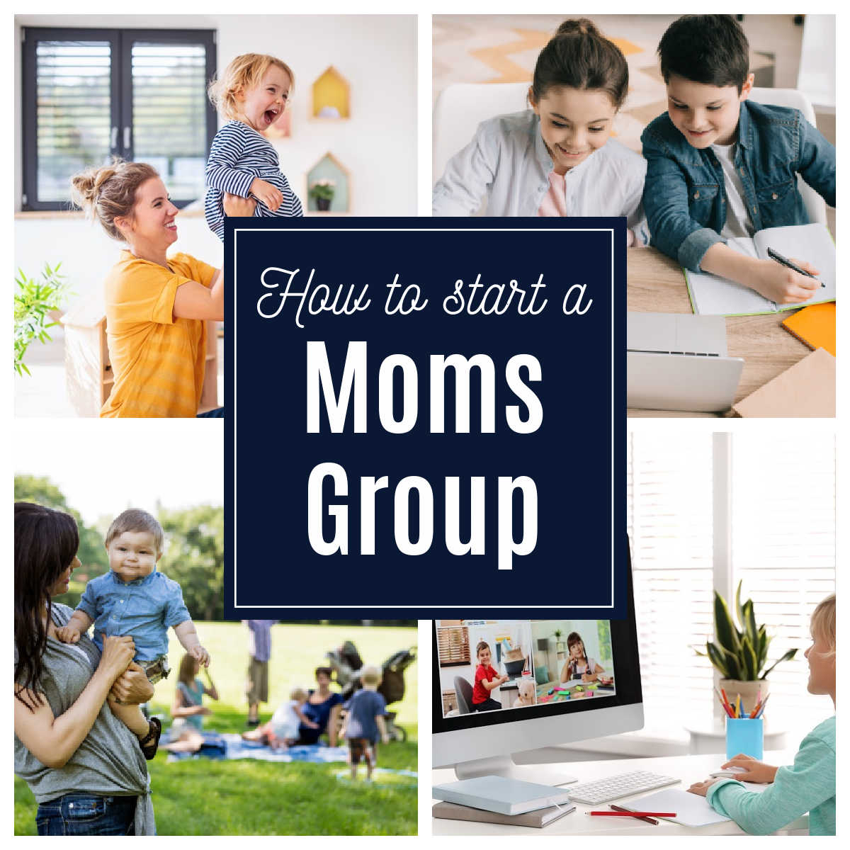 children and moms connecting at organized moms group