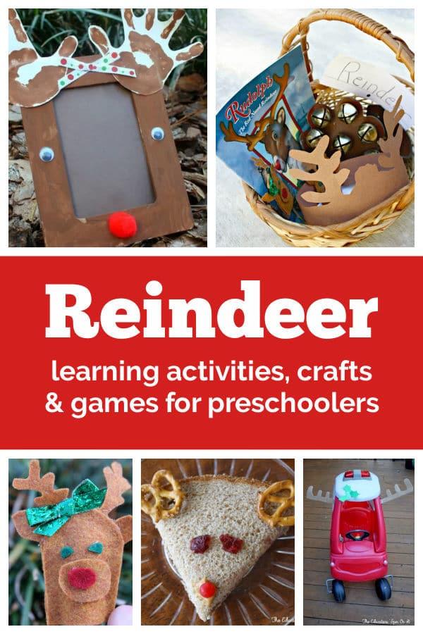 reindeer learning activities for preschoolers