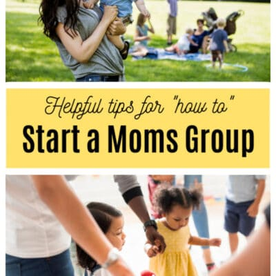 5 Tips for Starting a Moms Group