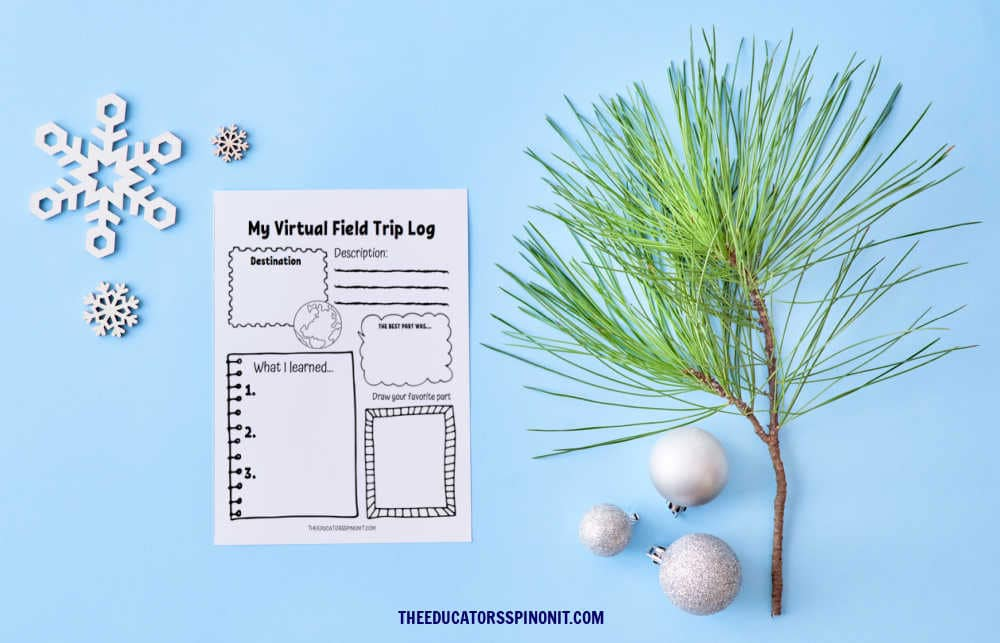 Virtual Field Trip Log for Winter with Kids.