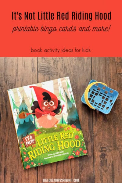 It's Not Little Red Riding Hood Book Activity with Bingo Cards