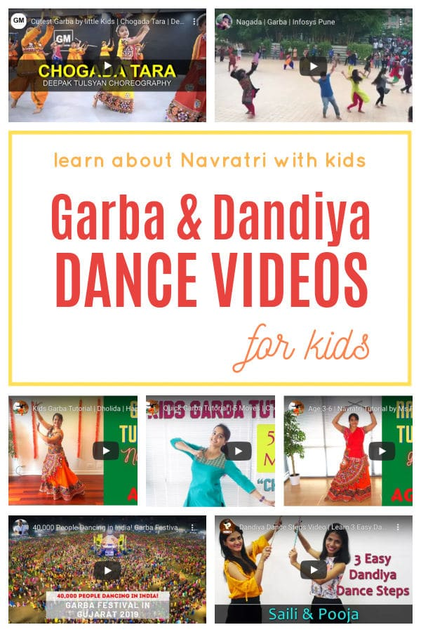 Garba and Dandiya Dance Videos for Kids for Navratri Activities for Kids