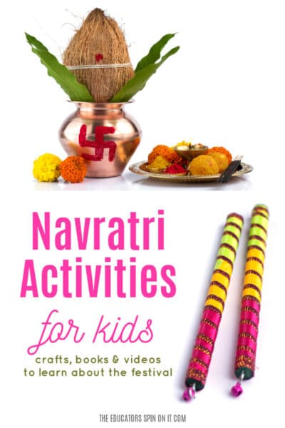 Navratri Activities for Kids with crafts, books and videos to learn about the festival